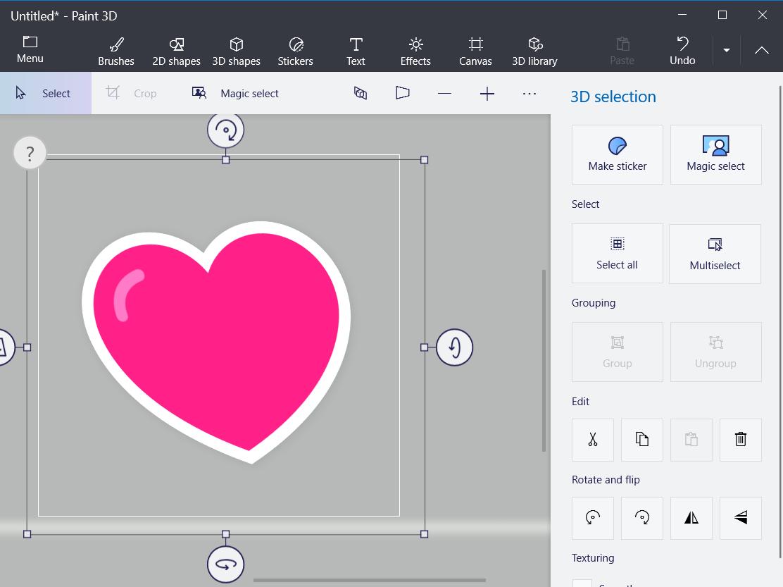 Una pegatina 3D como crear un icono en Windows 10