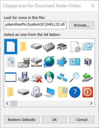 Cambiar ventana de icono Cómo crear un icono en Windows 10