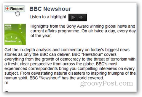 Grabación de DAR.fm BBC Newshour