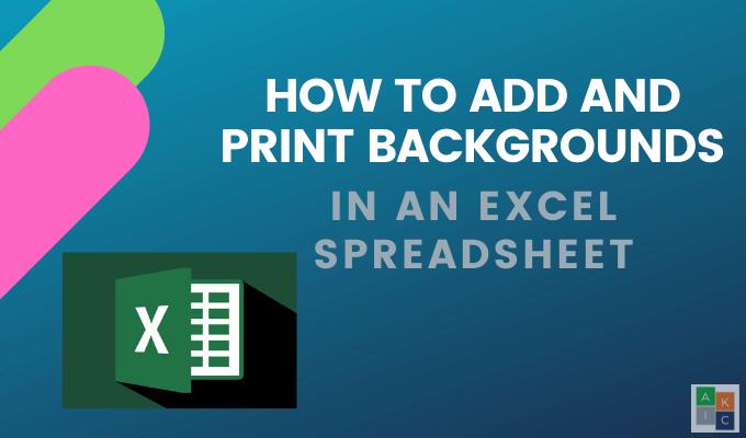 Cómo agregar e imprimir imágenes de fondo de Excel