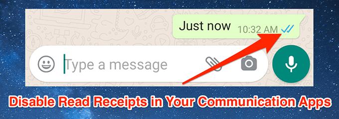Cómo desactivar los recibos de lectura en algunas aplicaciones de comunicación populares