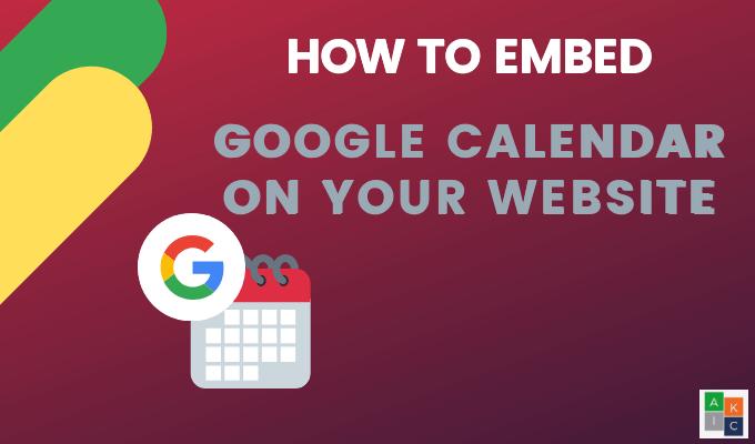 Cómo insertar Google Calendar en su sitio web
