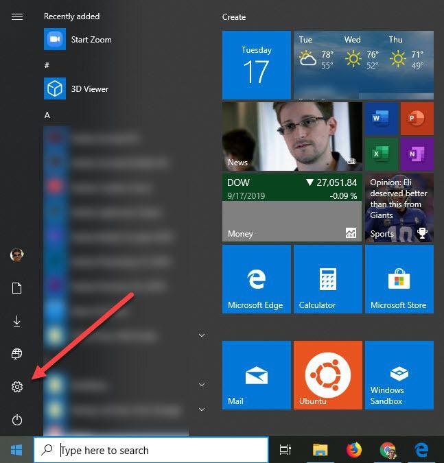 Cómo mostrar u ocultar carpetas y aplicaciones en el menú Inicio en Windows 10