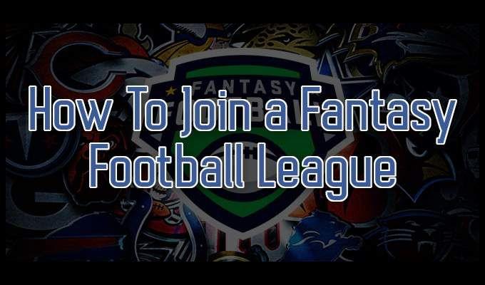 Cómo unirse a una liga de fútbol de fantasía en línea