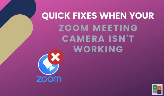 Soluciones rápidas cuando su cámara de reuniones Zoom no funciona