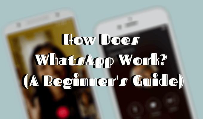 ¿Cómo funciona WhatsApp?  (Una guía para principiantes)