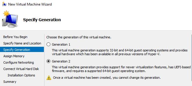 generación de máquinas virtuales