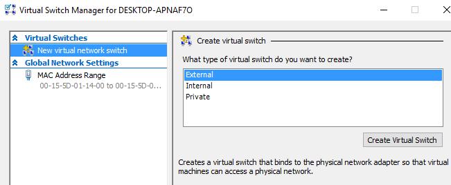 nuevo conmutador virtual
