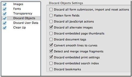 eliminar objetos optimizador de pdf