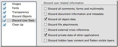 ignorar los datos de usuario de pdf