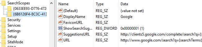 configuración de registro final