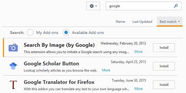 instalar el complemento de Firefox