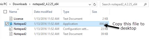 copiar archivo al escritorio