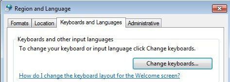 Teclados e idiomas