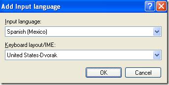 cambiar la distribución del teclado