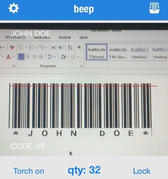 , un escáner de código de barras muy simple que admite muchos tipos de códigos de barras.  Es rápido, gratuito y funciona muy bien.