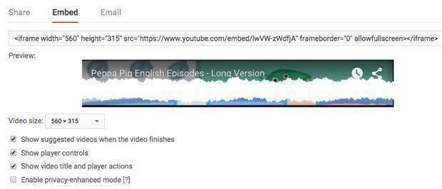 insertar código de youtube