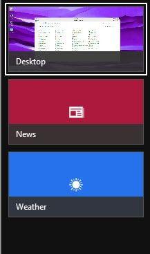 barra lateral de windows 8