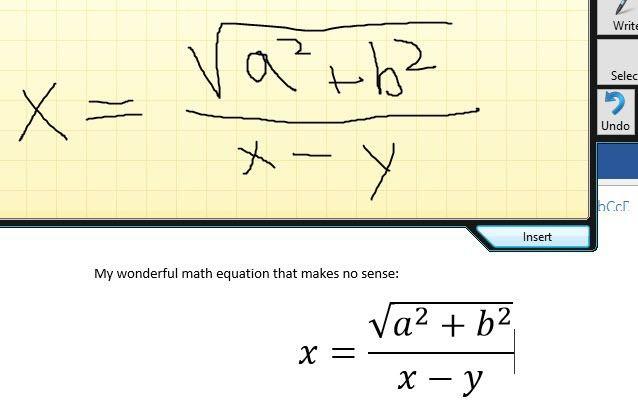 insertar una ecuación matemática