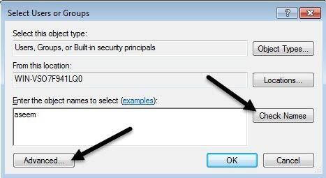 agregar usuario o grupo