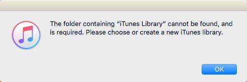 Falta la carpeta de iTunes