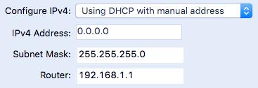 DHCP con dirección manual