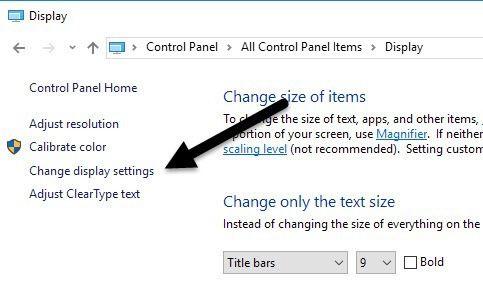cambiar la configuración de la pantalla