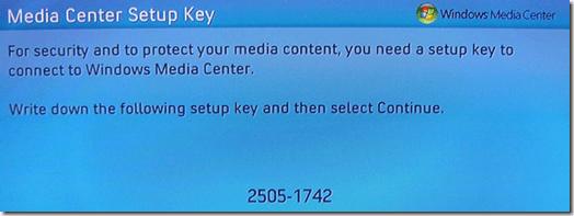 clave de configuración del centro multimedia