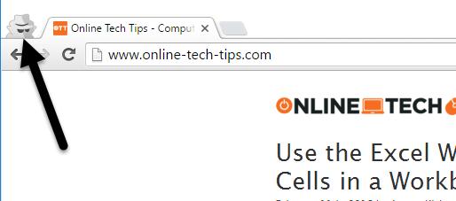 navegación privada de Chrome