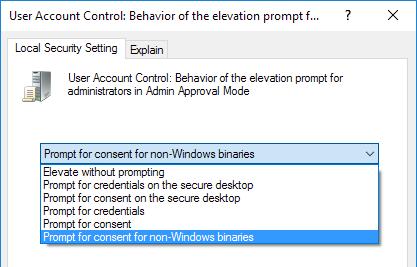 configuración del modo de aprobación del administrador