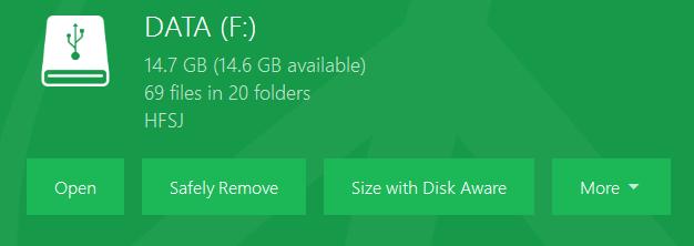 opciones de unidad mac