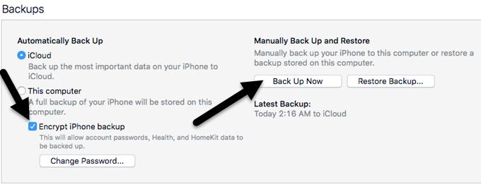copias de seguridad de iTunes
