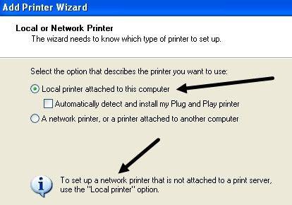 agregar impresora local