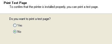 imprimir una página de prueba