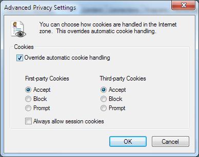 configuración de privacidad avanzada