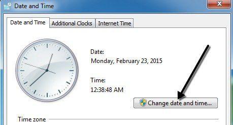 cambiar fecha y hora