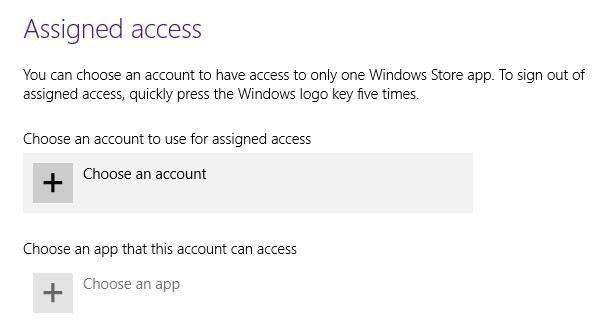 configuración de acceso asignado
