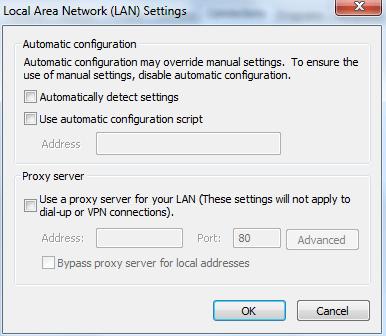 configuración de detección automática