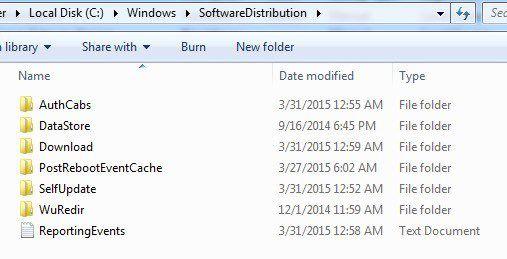 carpeta de distribución de software