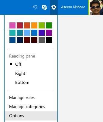 opciones de Outlook