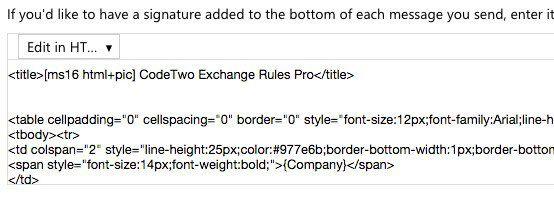 firma de código html