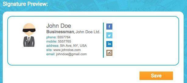 crear una firma de correo electrónico