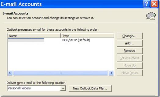 Cuentas de correo electrónico de Outlook
