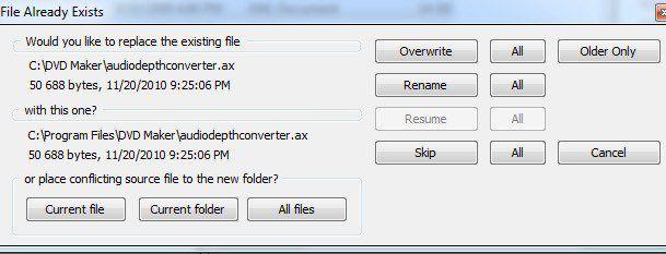 El archivo ya existe