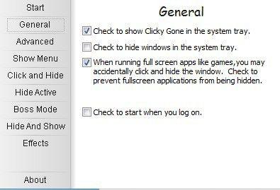 clickygon general