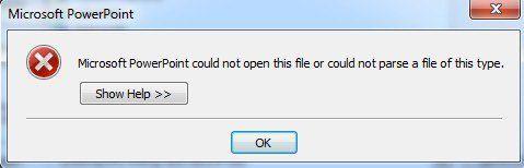 Error de PowerPoint