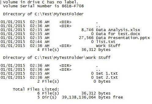 lista de archivos