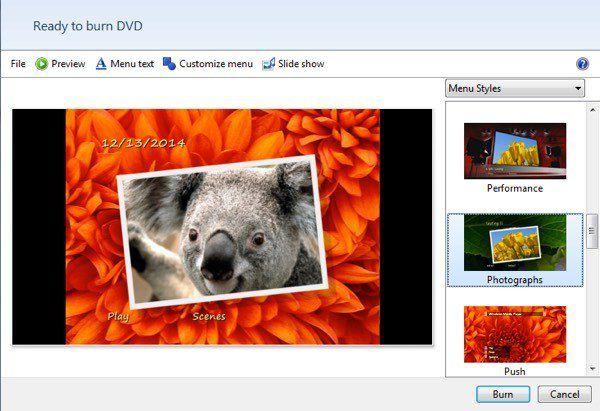grabar foto dvd