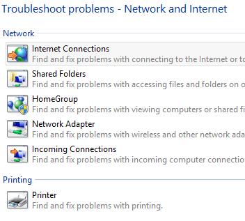 Herramienta de resolución de problemas de red