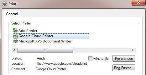 Controlador de impresión en la nube